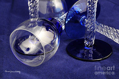 Clear And Blue Print by Randi Grace Nilsberg