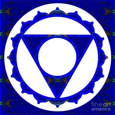 Clear Channels Of Blue Abstract Chakra Art By Omaste Witkowski Art Print by Omaste Witkowski