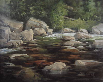 Painting - Clear Creek by Mar Evers