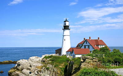 Photograph - Clear Day At Portland Head Light by Nancy Patterson