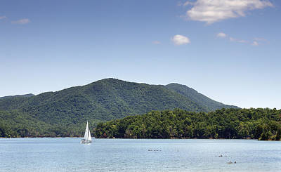 Tva Photograph - Clear Day On Watauga Lake - Tennessee by Brendan Reals