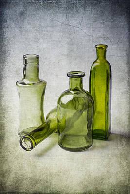 Clear Green Bottles Art Print