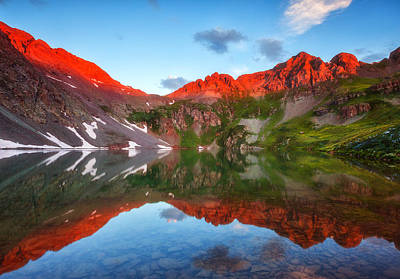 Photograph - Clear Lake Alpenglow by Darren  White