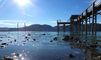 Clearlake Photograph - Clear Lake Glassy Water by Fabien White