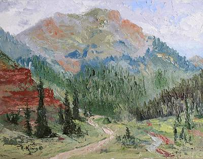 Painting - Clear Lake Mountain En Plein Air by Roena King
