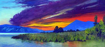 Robert Duvall Painting - Clear Lake Sunrise by Robert Duvall