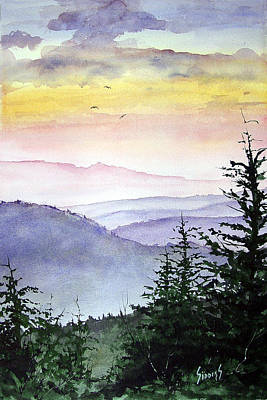 Mountains Wall Art - Painting - Clear Mountain Morning II by Sam Sidders