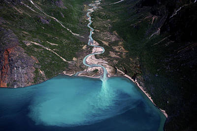 Aerial Photograph - Clear Stream by Danish Photography By