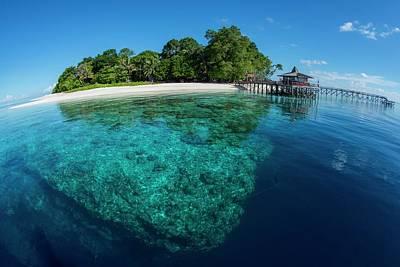 Clear Water Off Sipadan Island Art Print