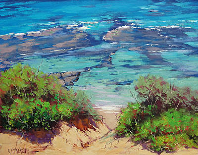Sand Dunes Painting - Clear Waters Norah Head by Graham Gercken