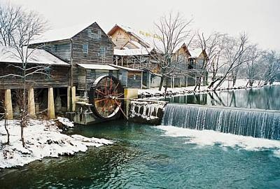 Clear Winter Day At The Old Mill Art Print by John Saunders