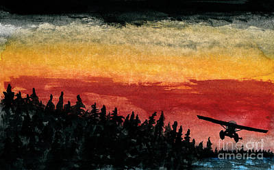 Beaver Lake Painting - Clearance  by R Kyllo