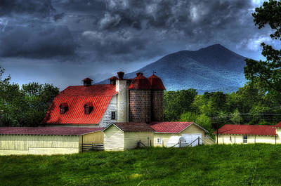 Red Roof Photograph - Clearing After A Storm by Steve Hurt