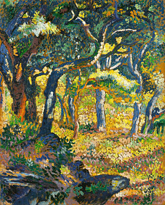 Clearing Painting - Clearing In Provence by Henri-Edmond Cross
