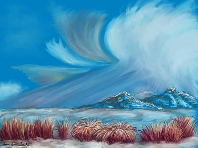 Digital Art - Clearing Snowstorm  by Dawn Senior-Trask