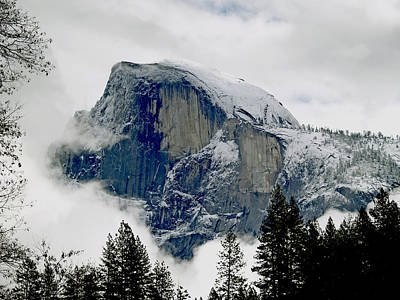Winter Storm Photograph - Clearing Storm Around Half Dome by Bill Gallagher