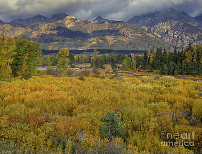 Photograph - Clearing Storm Blacktail Ponds Grand Tetons National Park by Dave Welling