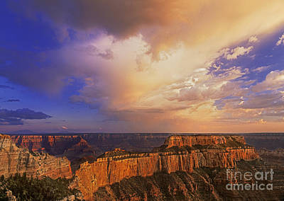 Clearing Storm Cape Royal North Rim Grand Canyon Np Arizona Art Print