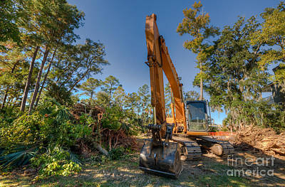 Photograph - Clearing Way For New Home by Dale Powell