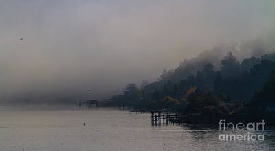 Clearlake Photograph - Clearlake Fog by Mitch Shindelbower