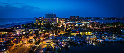 Beach Photograph - Clearwater Beach At Night by Jeff Donald