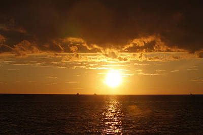 Art Print featuring the photograph Clearwater Sunset by Ivete Basso Photography