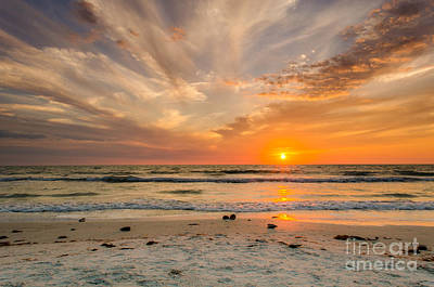 Clearwater Sunset Art Print by Mike Ste Marie