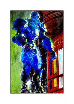Super Bowl Xlviii Photograph - Cleatus In Times Square by Lilliana Mendez