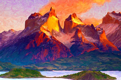 Digital Art - Cleft Summit by Chuck Mountain