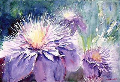 Clematis Painting - Clematis by Gyorgy Ozsvath