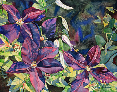 Painting - Clematis II by Amy Lewark