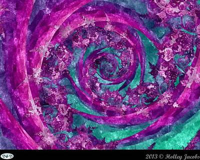 Digital Art - Clematis Ingenuity Artifice by Holley Jacobs