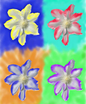 Clematis Osmosis Three Art Print