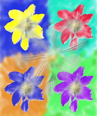 Clematis Osmosis Two Art Print
