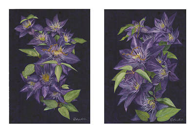 Clematis Painting - Clematis Pair by Ronald Wilkie