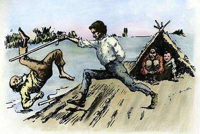 African-american Drawing - Clemens Huck Finn, 1884 by Granger