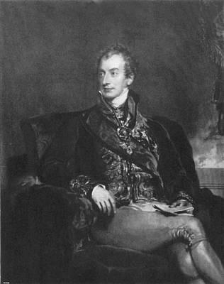 Mezzotint Painting - Clemens Metternich (1773-1859) by Granger