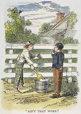 Fence Drawing - Clemens Tom Sawyer, 1876 by Granger