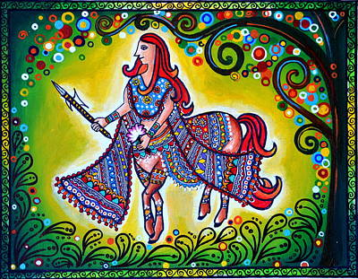Madhubani Painting - Clement Combatant by Deepti Mittal