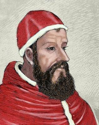 Religious Art Photograph - Clement Vii (1478-1534 by Prisma Archivo
