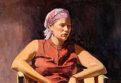 Clementine, 2004 Oil On Canvas Art Print by Tilly Willis