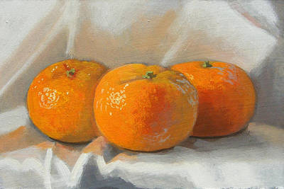 Painting - Clementines by Peter Orrock