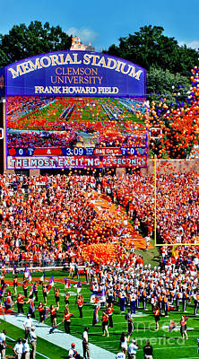 Photograph - Clemson Football Iphone Galaxy Cover by Jeff McJunkin