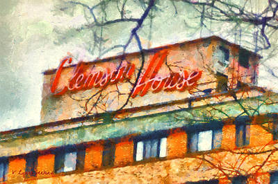 Clemson Painting - Clemson House by Lynne Jenkins