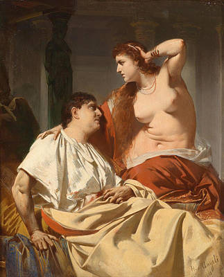 Painting - Cleopatra And Antony by Heinrich von Angeli