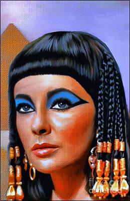 Cleopatra  Art Print by Andrzej Szczerski