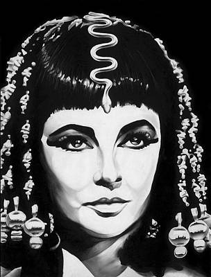 Elizabeth Taylor Drawing - Cleopatra by Jeff Stroman