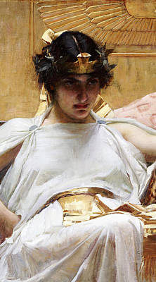 Silk Painting - Cleopatra by John William Waterhouse
