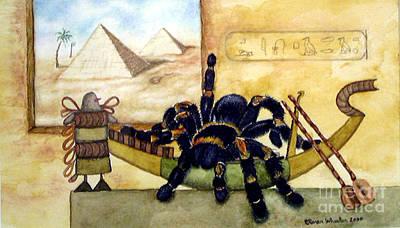 Tarantula Painting - Cleopatra by Karen Wheeler