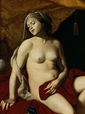 Erotica Painting - Cleopatra by Massimo Stanzione